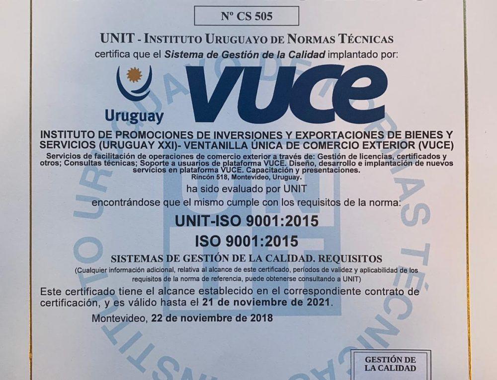 UNIT certifica en calidad a VUCE