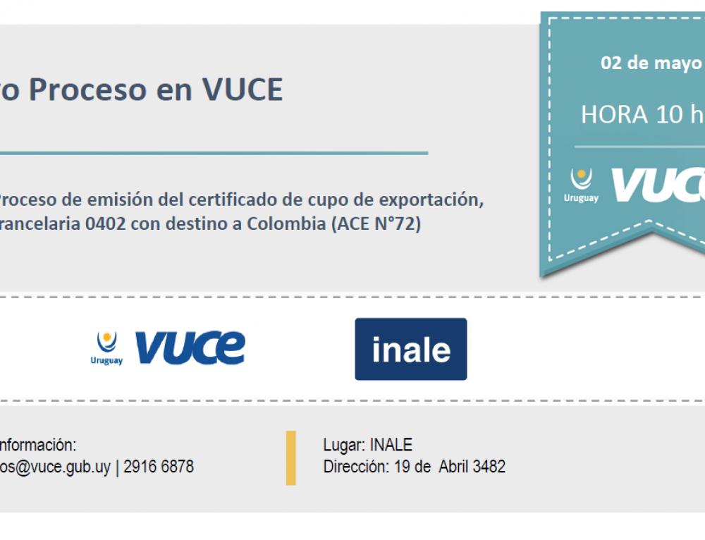 Nuevo Proceso en VUCE: INALE – Cupo de Exportación a Colombia