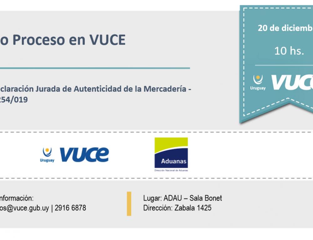 Invitación: Nuevo Proceso en VUCE – Declaración Jurada de Autenticidad de la Mercadería