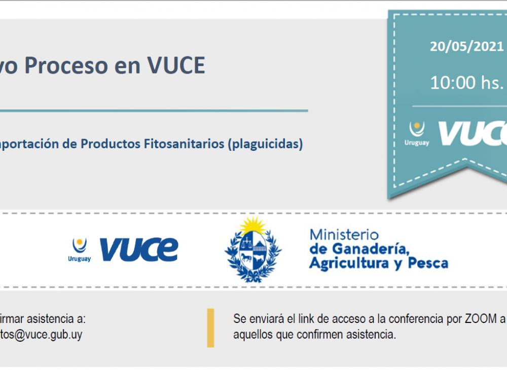 Invitación: Nuevo Proceso en VUCE: MGAP – IPFM: Importación de Productos Fitosanitarios (Plaguicidas)